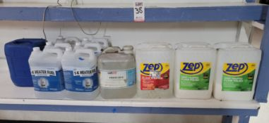 LOT - (6) 2.5 GALLON 1-K HEATER FUEL GRADE KEROSENE, LAMSON VANISH 6912 VANISHING OIL, ZEP FLOOR