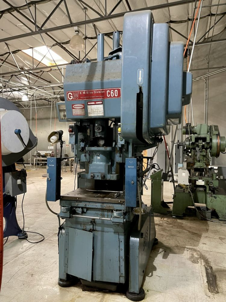 (11) NILSON FOURSLIDE WIRE FORMERS, BLISS C60 OBI PUNCH PRESS, ATLAS COPCO 50 HP & AIR COMP 20 HP AIR COMPRESSORS, SAWS, CLAUSING LATHE, BRAKE