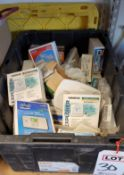 LOT - LARGE TOTE OF MISC THERMOSTATS AND RELATED ITEMS