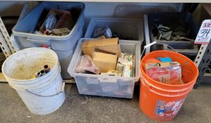 LOT - LARGE AMOUNT OF ELECTRICAL ITEMS: COVERPLATES, CONDIT CONNECTORS & HANGERS, ETC.