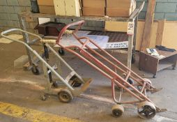 LOT - (1) DRUM DOLLY, (1) CYLINDER DOLLY AND (1) SHOP CART
