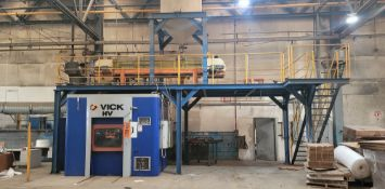 VICK RESIN HEATING STATION (PLM 207); VICK 3-STATION COLD BOX CORE MACHINE, VERTICAL AND