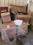 LOT - PALLET OF MAINTENANCE PARTS, THERMOCOUPLERS, AIR TOOL OIL, SOCK FILTERS, ELECTRIC HEATING