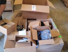 LOT - PALLET OF MISC SAFETY GEAR: SILVER LEGGINGS, SAFETY GLASSES, FACE SHIELDS, ARM SLEEVES,