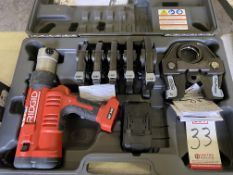 RIDGID RP340 PRESSING TOOL, NO CHARGER (LOCATION: AS)