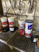 LOT - ASSORTED 5-GALLON BUCKETS OF HYDRAULIC FLUIDS (LOCATION: AS)