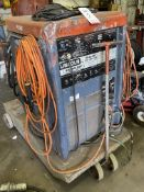 LINCOLN IDEALARC TIG 300/300, S/N AC557963, W/ MILLER COOLMATE 3 AND FOOT CONTROLLER (LOCATION: AS)