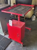 TORIN BIG RED T35304 ROLLING AUTO WORKSTATION, W/ CABINET, ADJUSTABLE TABLE HEIGHT, 50 LB CAPACITY