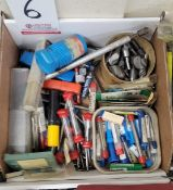 LOT - ASSORTED CUTTING TOOLS, COUNTERSINKS, ETC.