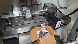 """CALMOTION 4TH AXIS ROTARY TABLE, MODEL VH-7, S/N ID000566, W/ TAILSTOCK AND 6"""" BTC 3-JAW CHUCK"""