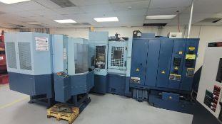 2005 MATSUURA H PLUS-300 PC11 HORIZONTAL MACHINING CENTER, MATSUURA G-TECH FANUC 30i CNC CONTROL,