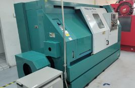 NAKAMURA TOME TMC-300C CNC LATHE, FANUC SERIES 16-T CONTROL, 16C COLLET NOSE, TAILSTOCK, S/N