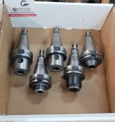 """LOT - (5) BT-40 TOOL HOLDERS, 3/4"""" SOLID, **IMMEX REGISTERED EQUIPMENT (NEEDS TO RETURN TO THE US)"""