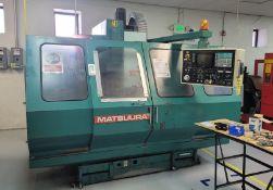 "1988 MATSUURA MC-760-VX VERTICAL MACHINING CENTER, TRAVELS: 29"" X 17"" X 19"", YASNAC MX3 CONTROL,"