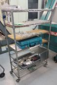 LOT - (2) WIRE RACKS, CONTENTS NOT INCLUDED, **IMMEX REGISTERED EQUIPMENT (NEEDS TO RETURN TO THE
