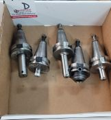 """LOT - (5) BT-40 TOOL HOLDERS: (2) 1/8"""" SOLID AND (3) 1/4"""" SOLID, **IMMEX REGISTERED EQUIPMENT (NEEDS"""