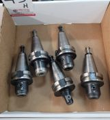 """LOT - (5) BT-40 TOOL HOLDERS: (4) 1/2"""" SOLID AND (1) 3/4"""" SOLID, **IMMEX REGISTERED EQUIPMENT (NEEDS"""