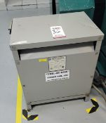 TRANSFORMER FOR LOT 35 MACHINE, 45 KVA, **IMMEX REGISTERED EQUIPMENT (NEEDS TO RETURN TO THE US)