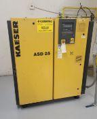 2005 KAESER COMPRESSOR, MODEL ASD 25, S/N 1027, **IMMEX REGISTERED EQUIPMENT (NEEDS TO RETURN TO THE