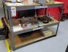 """LOT -(2) METAL SHELF UNITS: (1) 48"""" X 24"""" AND (1) 48"""" X 18"""" METAL SHELF; CONTENTS NOT INCLUDED, **"""