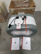 2020 DUAL RETRACTABLE REELS FOR AIR AND ELECTRICITY, MOUNTS TO CEILING, EAE AUTOMOTIVE EQUIPMENT CO.