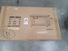 2020 PARTS CLEANING BENCH, 4' X 2', MAY OR MAY NOT INCLUDE CASTERS, COMES UNASSEMBLED IN CARTON