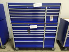 2020 PROFESSIONAL MECHANIC'S BOTTOM AND TOP TOOL BOX: BOTTOM IS EAE PART NO. TBR8010C-X AND MEASURES