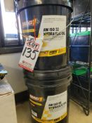 LOT - (2) 5-GALLON BUCKETS OF FMX TECHNOLOGY MAG1 AW ISO 32 HYDRAULIC OIL