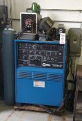MILLER SYNCROWAVE 350 ARC WELDER, W/ TANK AND ACCESSORIES