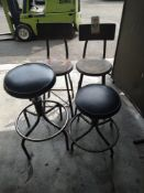 LOT - (4) CHAIRS/STOOLS