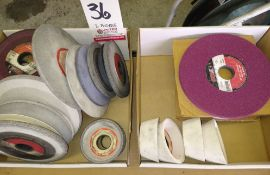 LOT - (2) BOXES OF ASSORTED GRINDING WHEELS