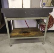 GRANITE SURFACE PLATE, 3' X 4', W/ STAND