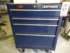 """CRAFTSMAN 26"""" 4-DRAWER CABINET, CONTENTS NOT INCLUDED"""