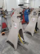 """MARCHANT SHRINKING & STRETCHING MACHINE, MODEL 6FG, 6"""" THROAT, MANUAL PEDAL OPERATION, S/N 328"""