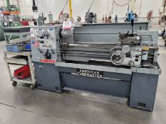 """AMERICAN TURNMASTER ENGINE LATHE, MODEL AT1340G, S/N 13406111720, 8"""" 3-JAW SELF-CENTERING CHUCK,"""
