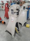 """MARCHANT SHRINKING & STRETCHING MACHINE, MODEL 6FG, 6"""" THROAT, MANUAL PEDAL OPERATION, S/N 127"""