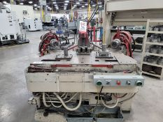 """HUFFORD MODEL A-10 STRETCH WRAP FORMING MACHINE, CAPACITY: 17.5 TONS, TABLE DIMENSIONS 30"""" X 65"""","""