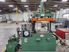 """MACHINE TECHNOLOGIES 4-POST HOT FORMING PRESS, 24"""" X 24"""" PLATENS, W/ OVEN"""