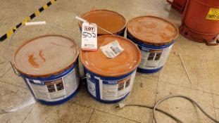 LOT - (4) 3-GALLON PAILS OF ROOFING PLASTIC