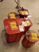 LOT - (5) OILY RAG CANS