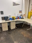 LOT - (2) WORKSTATIONS, FILING CABINETS AND CONTENTS