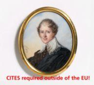 Aubry, Louis Francois. Paris 1767 - 1851. Portait eines Herren in altniederländischer Robe. Aquarell