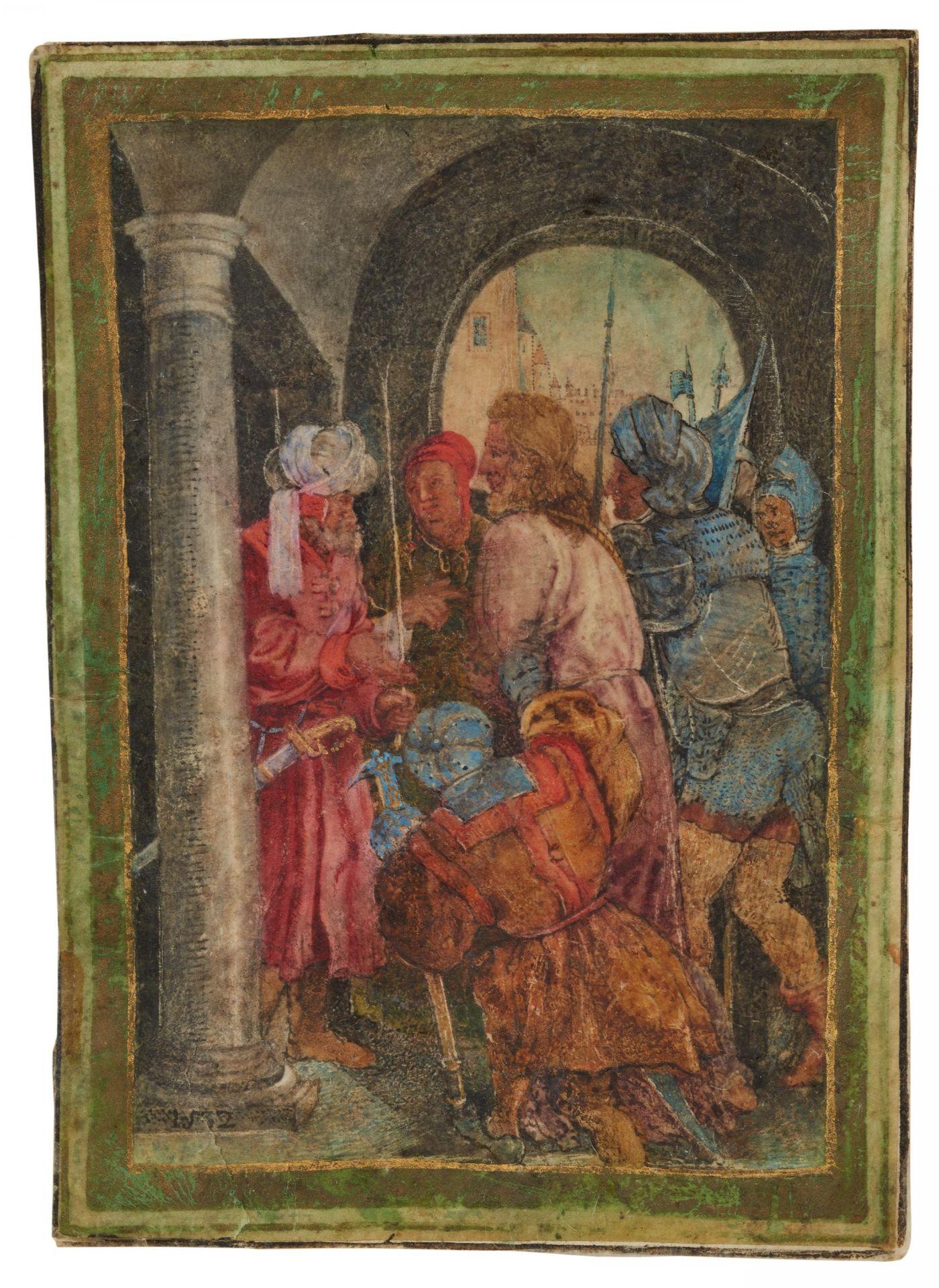 Dürer, Albrecht. Nürnberg 1471 - 1528 – nach. Christus vor Pilatus. Seitenverkehrte Kopie nach dem