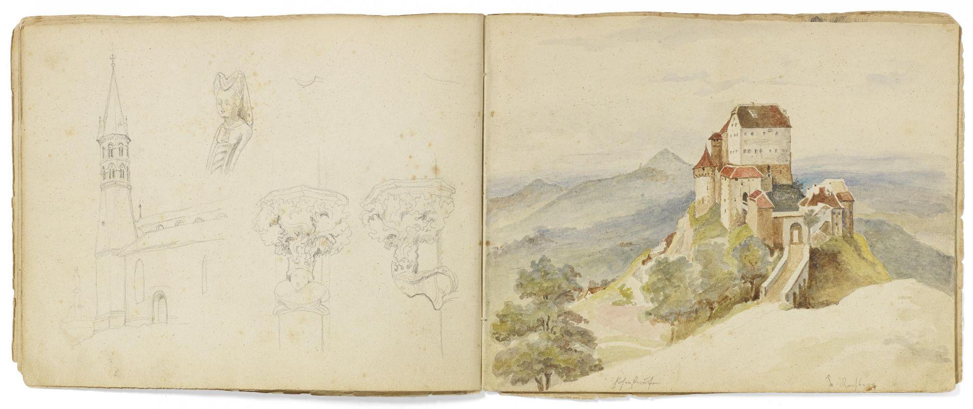 Kaupert, Gustav Kassel 1819 - 1897  Sketchbook, two booklets, each ca. 17 pages. Architectural - Bild 5 aus 8