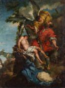 Italienischer Meister. 18. Jh.Abrahams Opfer. Kopie nach Johann Liss in den Florentiner Uffizien.