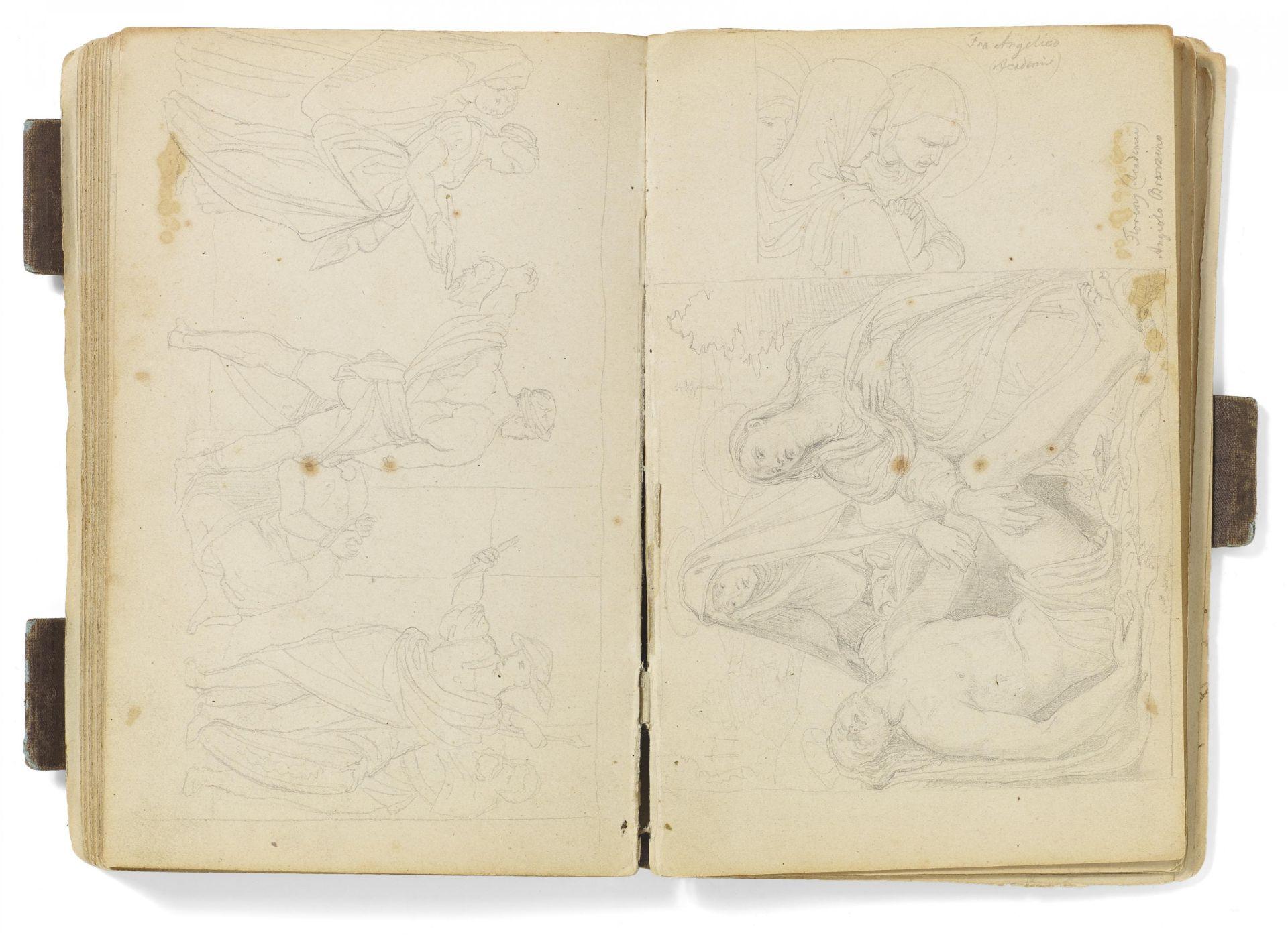 Kaupert, Gustav Kassel 1819 - 1897  Sketchbook, ca. 50 pages. Architecture, Italian landscapes - Bild 5 aus 6