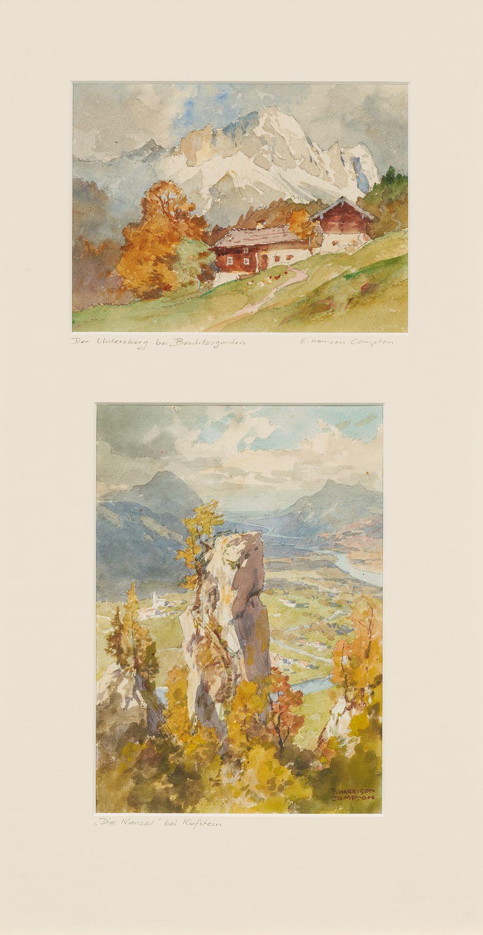 Compton, Edward Harrison. Feldafing 1881 - 1960. Zwei Aquarelle: Der Untersberg bei