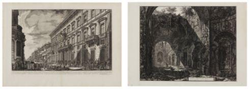 Piranesi, Giovanni-Battista. Rom 1720 - 1778 – nach. Zwei Radierungen: a) Interno del Tempio di