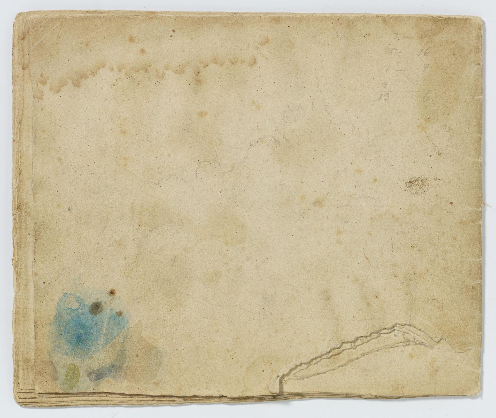 Kaupert, Gustav Kassel 1819 - 1897  Sketchbook, two booklets, each ca. 17 pages. Architectural - Bild 3 aus 8