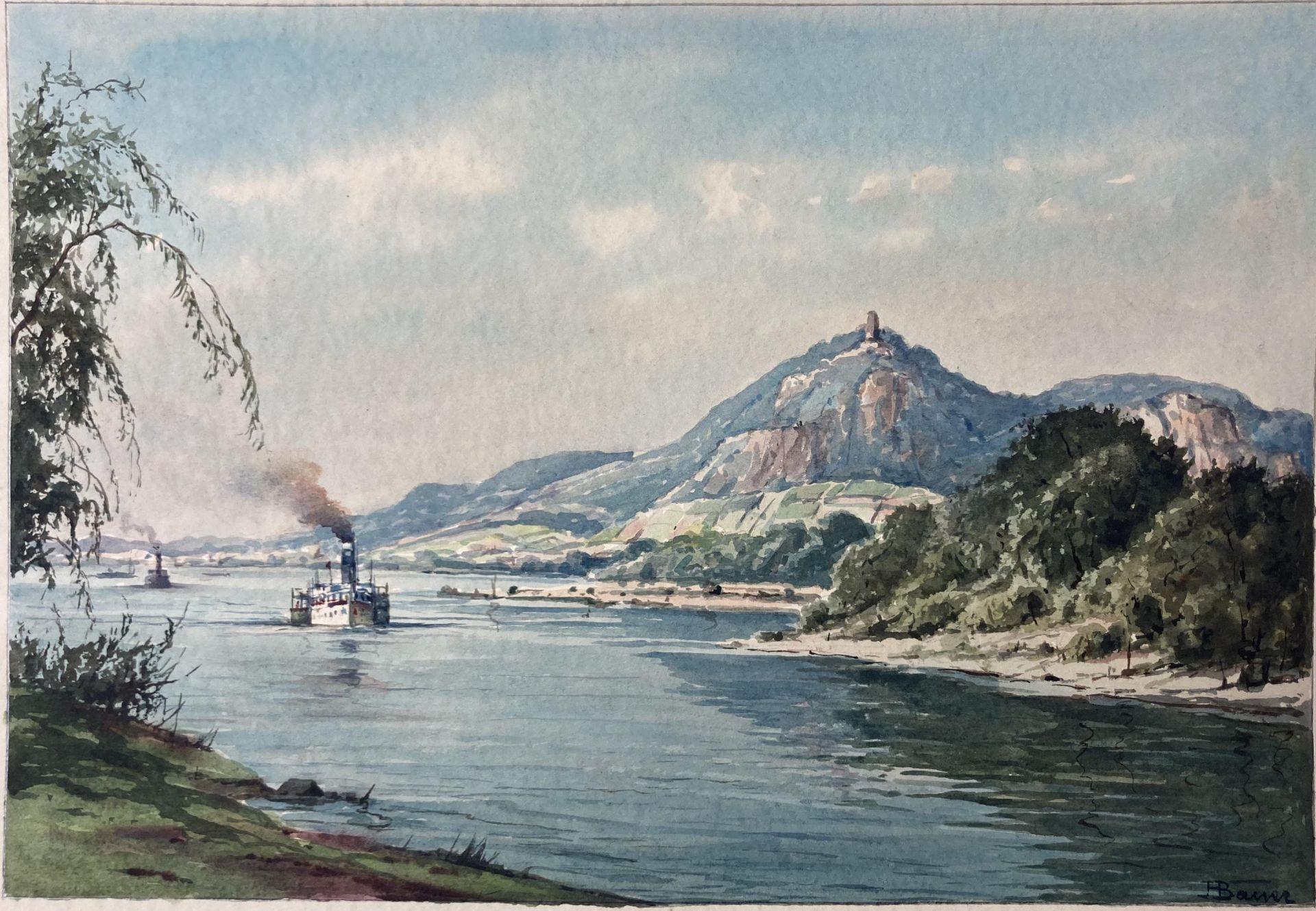 Bauer, Hans. 1883 Drebkau - 1967 Konstanz. Mappe mit 9 Aquarellen. Motive aus Bonn und dem - Bild 14 aus 20
